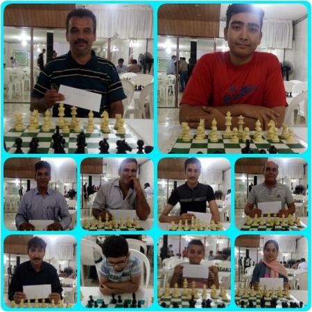 بازیکنان برتر مسابقه شطرنج هیئت شطرنج شهرستان ملارد