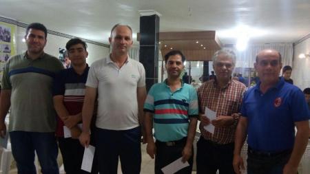 نتایج پایانی مسابقه آزاد هفتگی شطرنج شهرستان ملارد