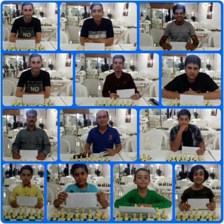 بازیکنان برتر مسابقه شطرنج  هفتگی آزاد شهرستان ملارد و مدرسه شطرنج امیران