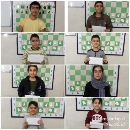 بازیکنان برتر مسابقه هفتگی سطح مبتدی و متوسطه هیئت شطرنج و مدرسه شطرنج امیران شهرستان ملارد