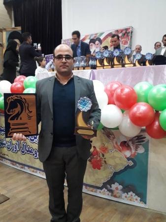 تقدیر از علی حاجی آبادی رئیس هیئت شطرنج و مدیر مدرسه شطرنج امیران به عنوان هیئت برتر شهرستان ملارد