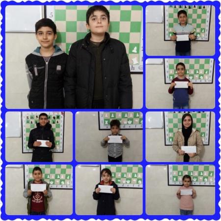بازیکنان برتر مسابقه هفتگی سطح مبتدی و متوسطه هیئت شطرنج و مدرسه شطرنج امیران
