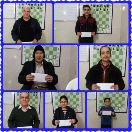 بازیکنان برتر مسابقه هفتگی آزاد  هیئت شطرنج و مدرسه شطرنج امیران شهرستان ملارد